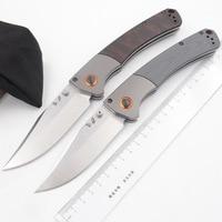 JUFULE Crooked River 15080 Aluminium Dymondwood / G10 handle D2 Blade folding Survival EDC Tool camp hunt outdoor kitchen knife