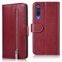 For On Xiaomi Mi 8 9 A1 A2 A3 Lite SE 9T Pro CC9e CC9 Case Redmi 8A 7A 8 7 GO S3 K20 Note 8 7 Pro Zipper Wallet Case Redmi8 A(China)