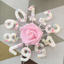 Colorful Candy Candle DIY Digital Candle Birthday Wedding Anniversary Party Decoration