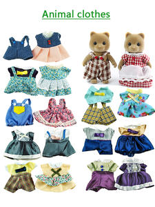 Simulation-Toy Doll's-Accessories Rabbit-Clothes Miniature Family-House Forest-Animal