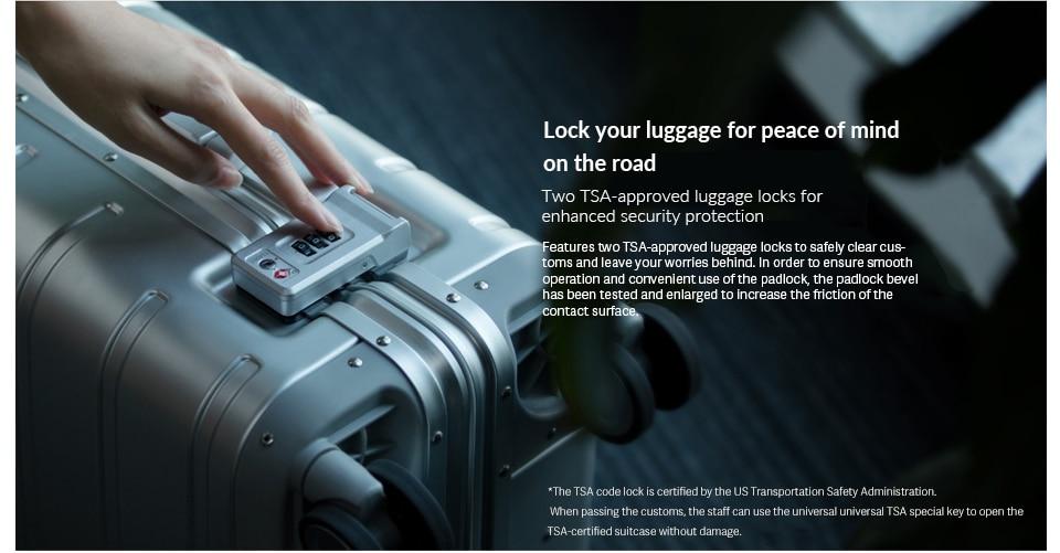 "Xiaomi Metal Carry-on Luggage 20"" (Silver) Global"
