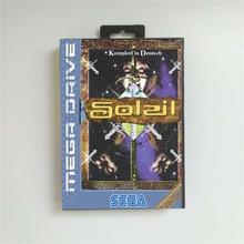 Soleil (Frans) Eur Cover Met Doos 16 Bit Md Game Card Voor Sega Megadrive Genesis Video Game Console