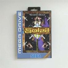 Soleil (francja) EUR pokrywa z opakowanie detaliczne 16 Bit karta gry MD dla Sega Megadrive w księdze rodzaju gra wideo konsoli