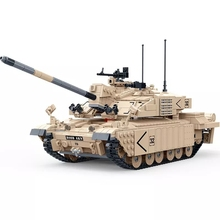 2019 World War 2 WW2 Soldiers Armored Vehicle Challenger Ⅱ Main Battle Tank Military SWAT Army Building Blocks Bricks Kids Toys