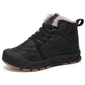 Image 2 - Çocuk kış ayakkabı erkek sıcak peluş kürk Sneakers kızlar için moda su geçirmez spor çocuk koşu ayakkabıları kaymaz kar ayakkabı