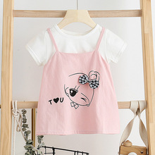 Baby Girls Dress New Summer Kid Sweet Cartoon Girl Bow-knot Toddle Vestidos Children Clothing