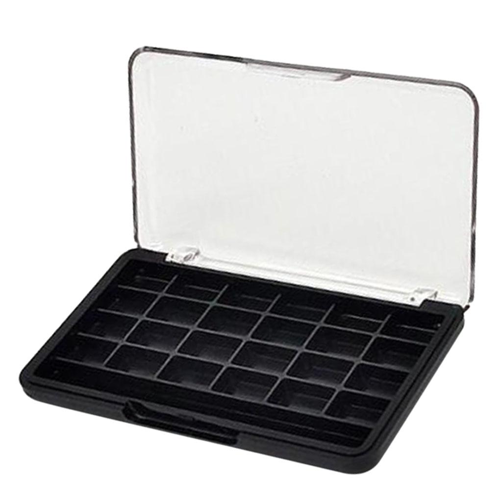 24 Сетки DIY пустые тени для век Палитра паллет коробка румяна помада блеск для губ Румяна держатель для пудры чехол с кисточкой слот|Наборы инструментов для макияжа|   | АлиЭкспресс