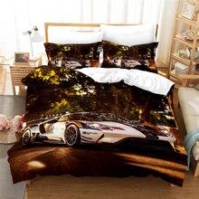 Комплект постельного белья cianlsria supercar 3 шт с 3d рисунком