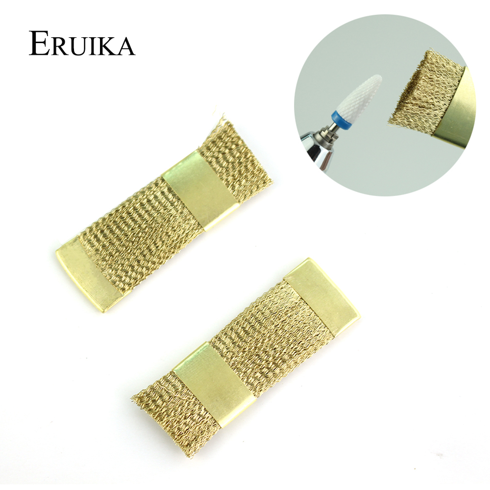 ERUIKA 1Pcs Nail Drill Cleaning Copper Wire Brush For Electric Manicure Drill Bit Clean Accessories Manicure Tools