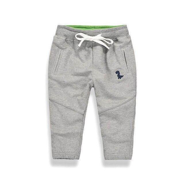 27kids Autumn Sport Boys Pants Dinasour Embroidery Girls Trousers 2-9Year Children Pants winter Sweatpants 1
