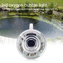 USB zatapialne akwarium wytwarzanie tlenu światło do akwarium LED automatyczna zmiana koloru krajobrazu lampa w kształcie bańki tlenowej tanie tanio CN (pochodzenie) Do umieszczenia w wodzie 40 cm 1 5 W LED Color Changing Oxygen Bubble Light Underwater Submersible Making Oxygen Light