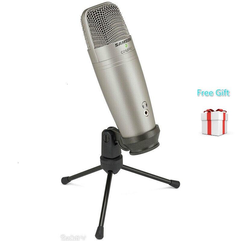 Samson C01u Pro Usb Studio Hypercardiod micrófono monitoreo en tiempo Real diafragma grande condensador micrófono Plug & Play Stand