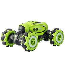 1:16 RC Stunt Car Watch/2.4GHZ Remote Control Double-sided Drive 360° Rotating Auto Demo RC Car RC Crawlers with Music Light