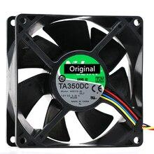 Original 100% trabalhando fornidec ta350dc C34709-58 dc 12v 0.50a 3 fios 90x90x25mm ventilador de refrigeração do servidor