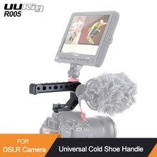 UURig R005 zimny uchwyt do aparatu DSLR górny uchwyt do mocowania adaptera metalowy uniwersalny uchwyt do Sony Nikon Canon ze śrubą 1/4 3/8