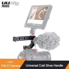 Uurig R005 Koude Schoen Dslr Camera Top Handvat Grip Adapter Mount Metalen Universele Hand Grip Voor Sony Nikon Canon Met 1/4 3/8 Schroef