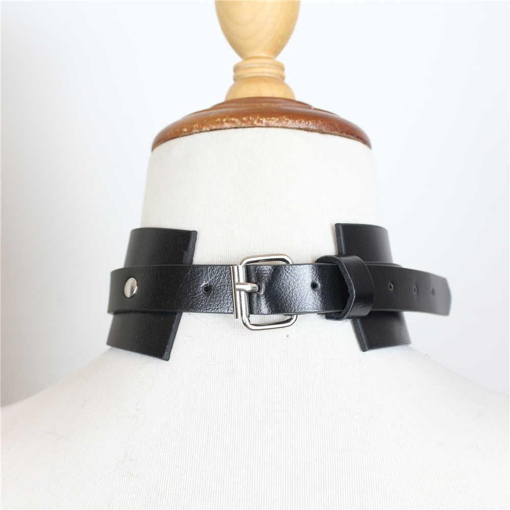 Ronllona Harness Collare Bondage Cinghie di Cuoio per Le Donne Top Vendita Goth Pole Dance Bdsm Collare di Cuoio Del Choker Del Cablaggio Della Cinghia Bondage