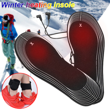 Black Clothing Keep Warm Heated Insoles Electric Foot Unisex Winter Warmer Skiing Camping
