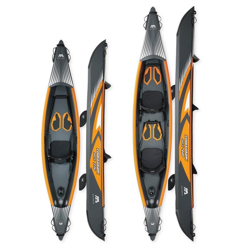 TOMAHAWK kayak Aqua Marina AIR-K/C bateau gonflable canoë pvc dériveur radeau pompe à aubes siège manomètre point de chute matériel