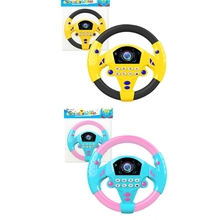 P15C Learning Educational Toys for 1+ Year Old Boys and Girls Kids Electric Early Education Simulation Steering Wheel Toy