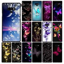 Maiyaca Beautiful butterfly flower Phone Case For Samsung Galaxy A50 A70 A20 A30 Note9 8 Note7 Note10 Pro(China)