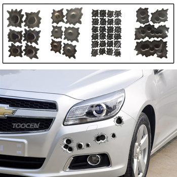 1PCS 3D Realistic Hole Car Sticker Simulation Scratch Funny Decal Waterproof Stickers For Automobiles/Motorcycle image