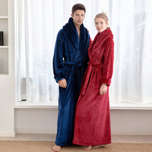 Women's Long Robe Microfleece Flannel Ultra Long Floor Length Ankle-Length Bathrobes  Sleepwear Loungewear Nightgown