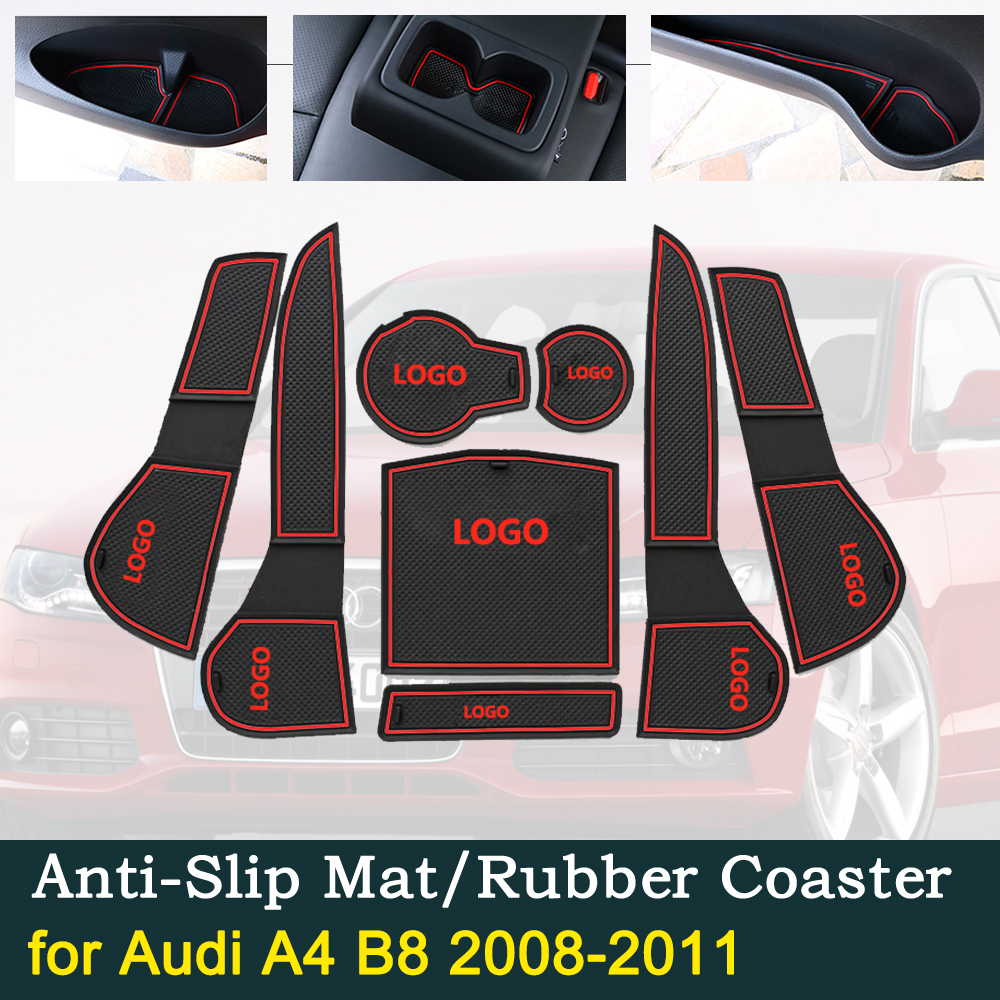 Anti-slip Door Rubber Cup Cushion for Audi A4 B8 2008 2011 2009 2010 8K RS4 S4 S line RS 4 Groove Mats Car Interior Accessories