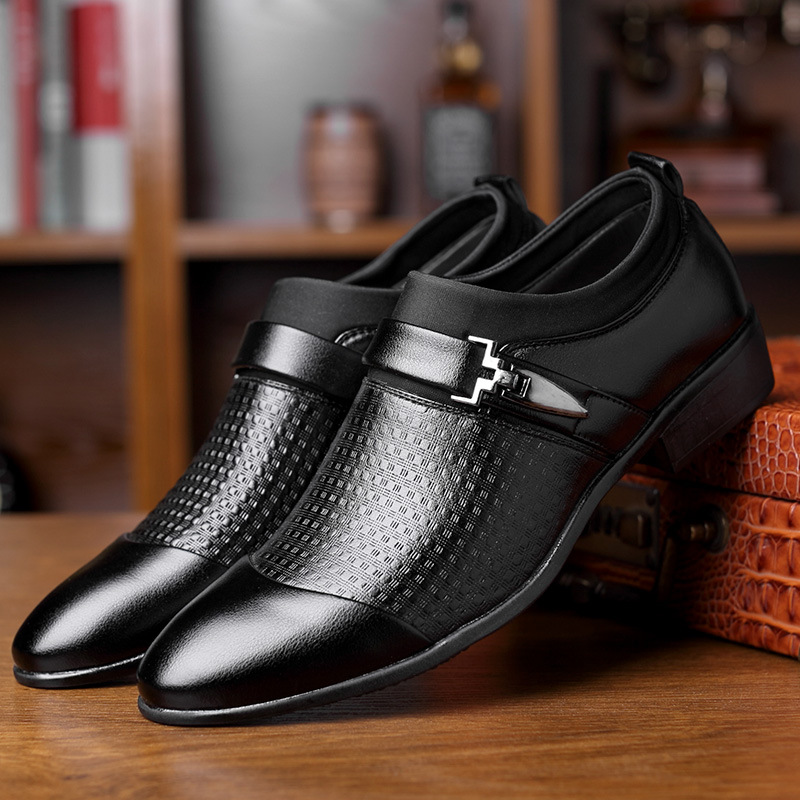 Mens Jazz Shoes Leather Ballroom Dance Shoes Black Modern Latin Shoe Solid Lace-Up Pointed Toe Shoes Anti Slip Mens Oxford Shoes Soft Suit Formal Shoes Casual Smart