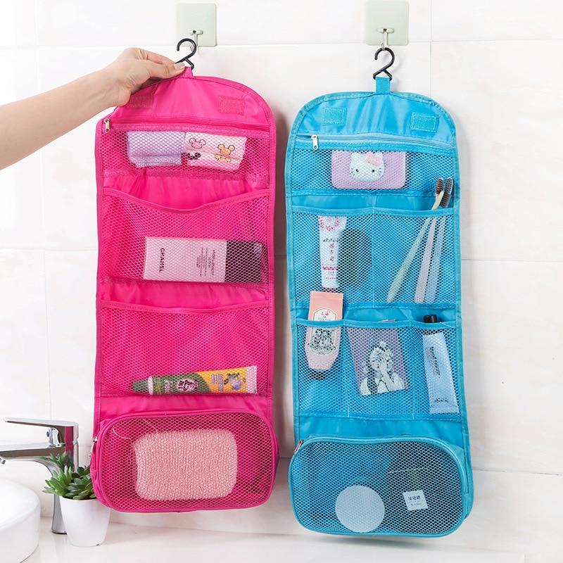 Висячая сумка для хранения косметики, прозрачная дорожная сумка для хранения, косметические карманы для женщин, сумка для мытья, дорожная косметичка для ванной комнаты|Сумки для вещей|   | АлиЭкспресс