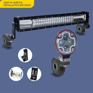 Image 4 - DERI Holder bracket Bull bar Car light mount bumper lamp Clamp stand Offroad Led driving light bar License plateCar Acessories