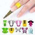 100 stücke Nagel Formen Gel Verlängerung Aufkleber Französisch Acryl Uv Gel Curve Falsche Nägel Kunst Diy Führer Form Maniküre Kunst werkzeuge