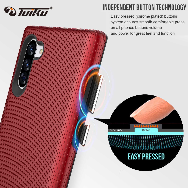 TOIKO X Guard Dual Layer กันกระแทกสำหรับ Samsung Galaxy หมายเหตุ 10 ฝาครอบโทรศัพท์หมายเหตุ 10 Plus Soft TPU PC เกราะเชลล์