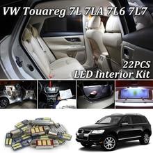 22X белые светодиодные с CANBUS салона комплект ламп для Volkswagen VW Touareg 7LA 7L6 7L7 светодиодный внутренний светильник 2003-2010