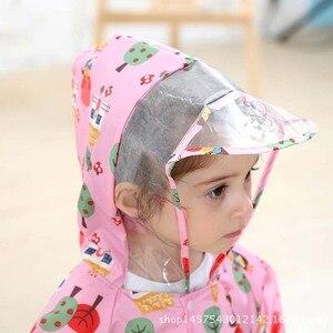 Image 2 - Çocuklar kapşonlu yağmurluk çocuk açık yağmur tulum geçirimsiz pembe yağmurluk kapak bebek erkek kız sevimli panço mavi yağmurluk