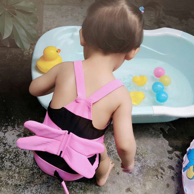 KID'S Swimwear South Korea Girls BOY'S One-piece Cute Little Bee Spa Resort Tour Bathing Suit Baby Swimsuit