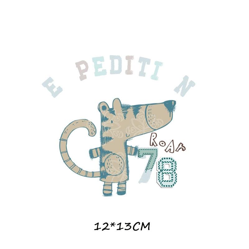 Мультяшный пони, единорог, динозавр, железная нашивка, теплопередача, одежда в полоску, футболка для мальчиков и девочек, сделай сам, волшебная наклейка на заказ - Цвет: ZT0770