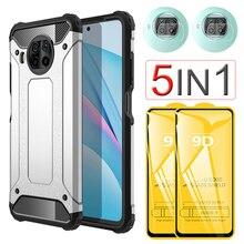 Heavy Duty Protection Armor Case for Mi+10T+Lite Mi+10T+Pro Screen Protector Cristal Templado Xiaomi Mi 10T Lite 5G Phone Case