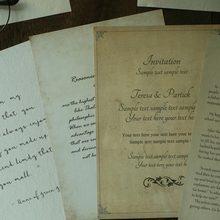 Englisch Schreiben Papier Requisiten Gelb Handschrift Vintage Retro Fotografie Requisiten