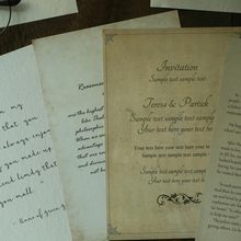 English Writing Paper Props Yellow Handwritten Vintage Retro Photography Props