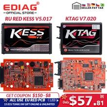 EU Rot KESS V 5,017 V 2,53 Master ktag V 7,020 V 2,25 4LED Manager drehen kit Kein Token Lesen begrenzte KESS V 2,47 ECU programmierer