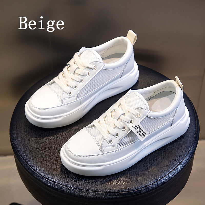 Big Size Women Sneakers Autumn Leather Light White Sneaker Female Platform Vulcanized Shoes Spring Casual Breathable Sports Shoe 13