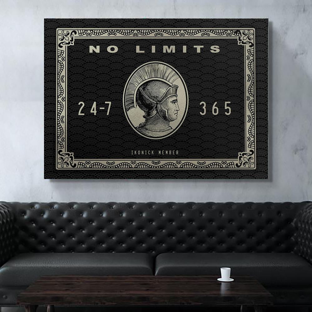 Ho limits <font><b>logo</b></font> <font><b>Posters</b></font> And Prints Wall Art Canvas Room Decor Canvas Painting Waterproof Ink <font><b>Poster</b></font> Vintage image