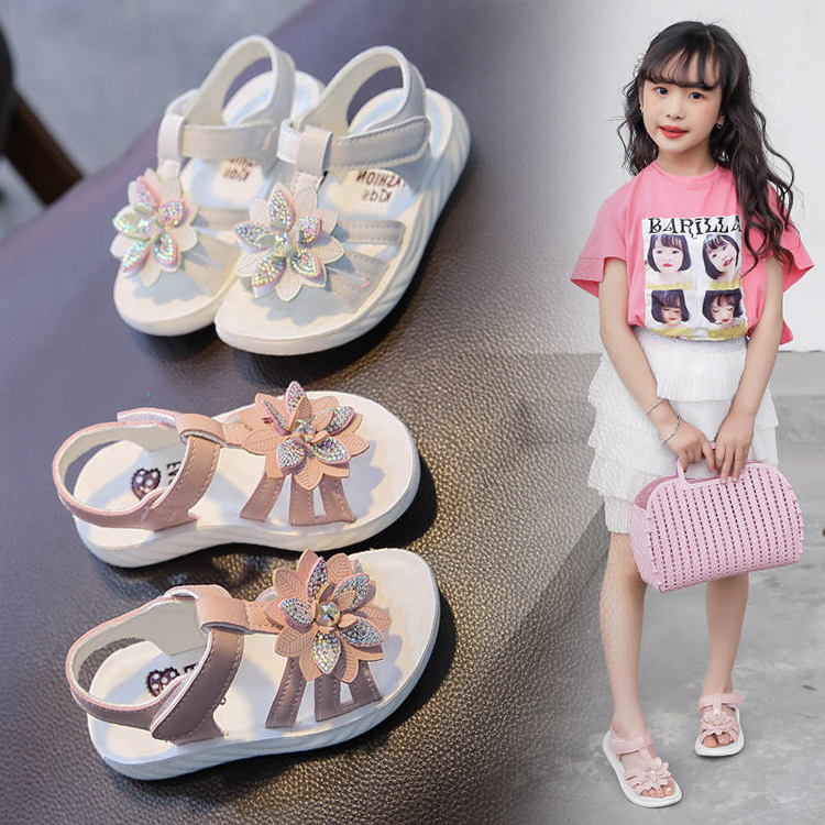 Toddler White Sandals | Children Toddler Baby Girls Pink White Sandals For Kids Little Girls Soft Bottom Pearls Flower Beach Sandals New 2020 Summer