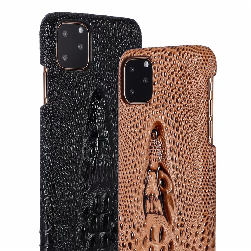 Genuine Leather Cow Hide Stereoscopic 3D Case for iPhone 11/11 Pro/11 Pro Max 5