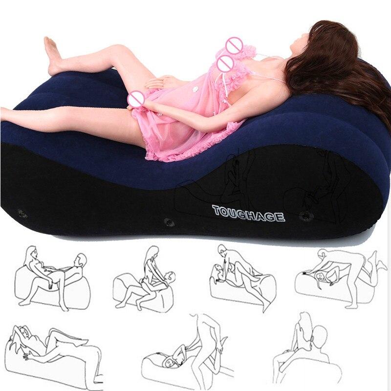Nadmuchiwane Sex Sofa meble dla par przenośne poduszki pozycje seksualne wsparcie poduszki dorosłych Sexy łóżko pomocne Sex sofy Pad