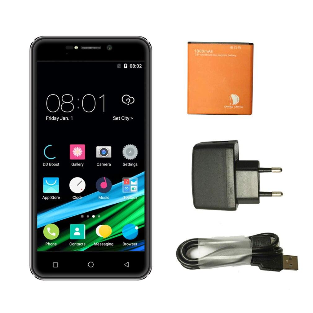 Ding 4,5 дюймов 3g смартфон мобильный телефон для Android Dual Sims двойной режим ожидания ЕС вилка 1750 мАч батарея