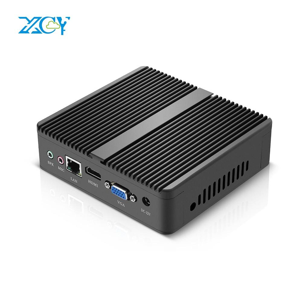 XCY Cheapest Mini PC Computer Intel Celeron N2830 N2840 Dual-cores 2.16GHz Windows10 Desktops Office HTPC VGA HDMI WIFI door wireless with monitor