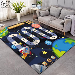 Carpet Rugs Game-Mat Board Living-Room Baby Soft Kid Cartoon Rocket for Planet Maze 005