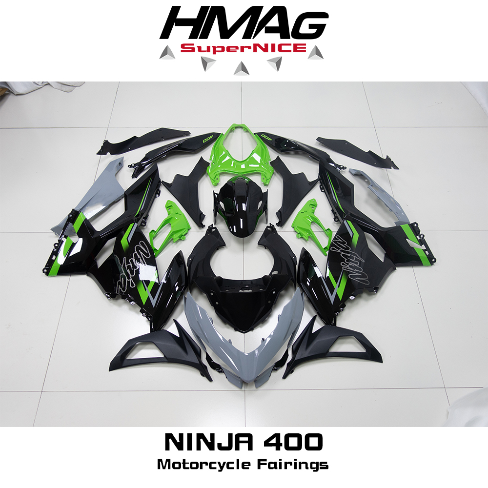 High Quality New ABS Injection Plastics Full Fairings Kit For Ninja400 Ninja 400 ZX-4R 2018 2019 2020 Bodywork Set Dark Green